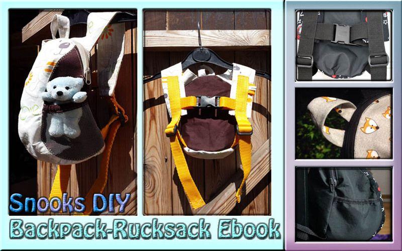 Ebook Backpack - Rucksack Snooks DIY Schnittmuster von Snooks-DIY auf DaWanda.com