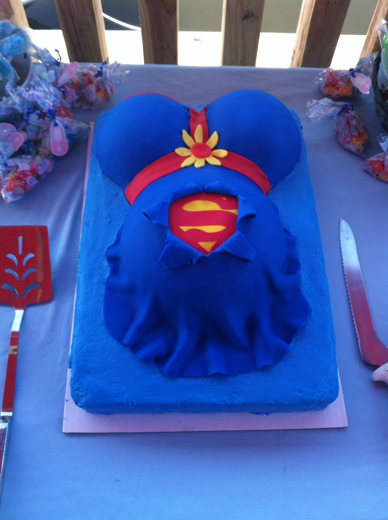 Superman themed baby shower.