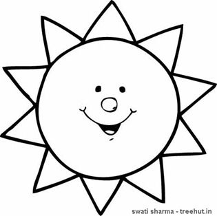 Printable Black And White Sun  Clipart Best  Puggles