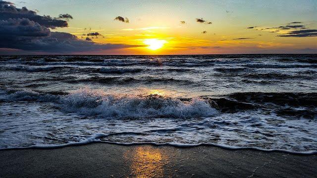 Gambar Pemandangan Pantai Malam Hari Sunset Yang Indah Hd Sunset Sunset Sky Beautiful Backgrounds