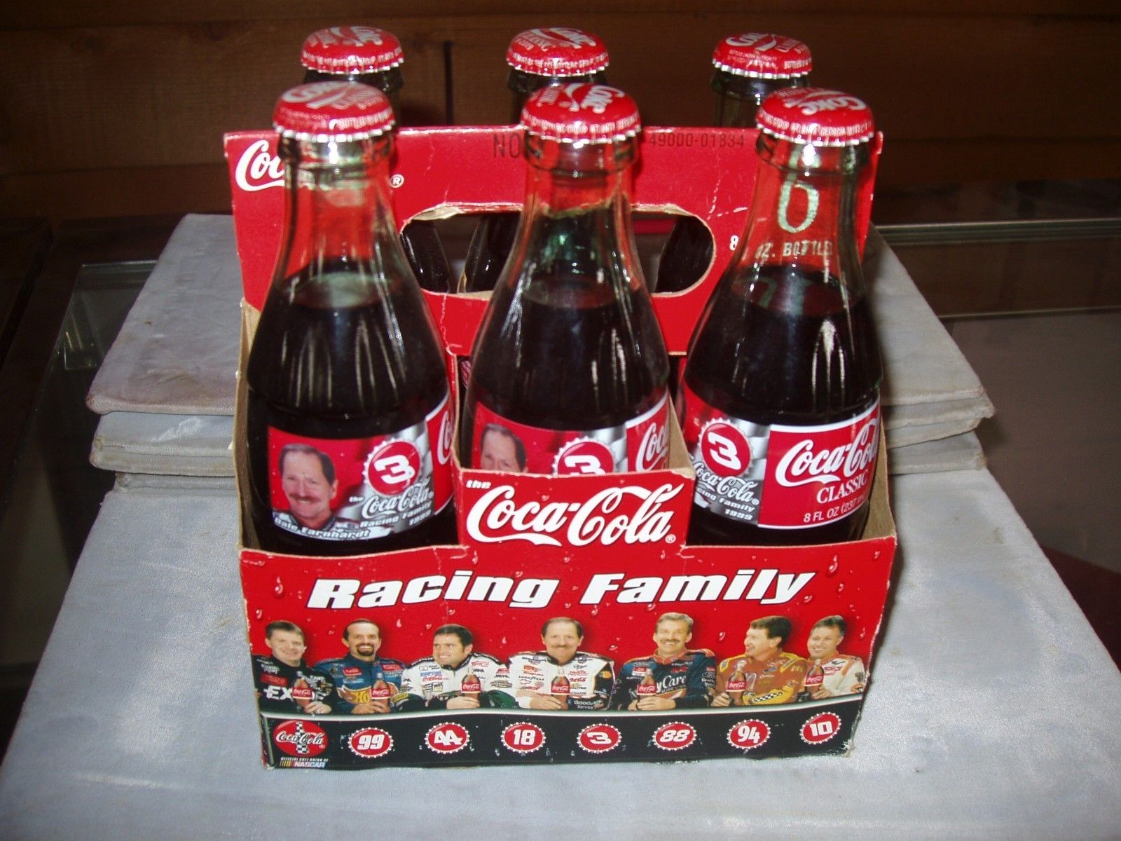 5c1175cf017 6 pack Dale Earnhardt Sr. 8 oz coke bottles