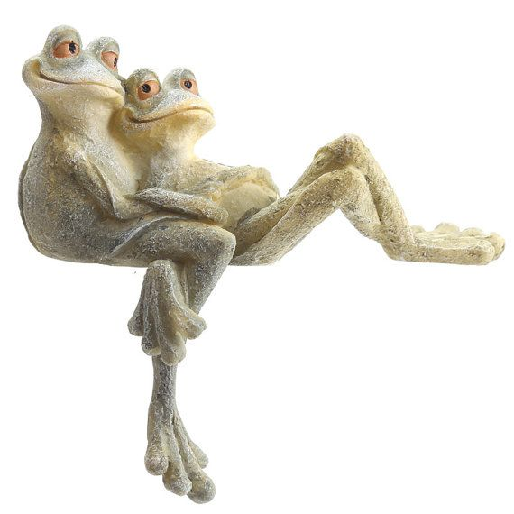 Cute Long Leg Frog Couple Cuddling Ornament By Getgiftideas