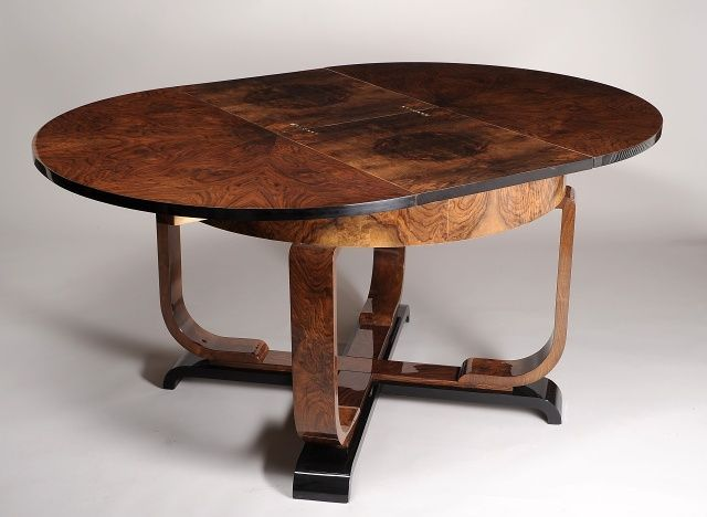 Art Deco Dining Table With Leaf Art Deco Art Deco Furniture