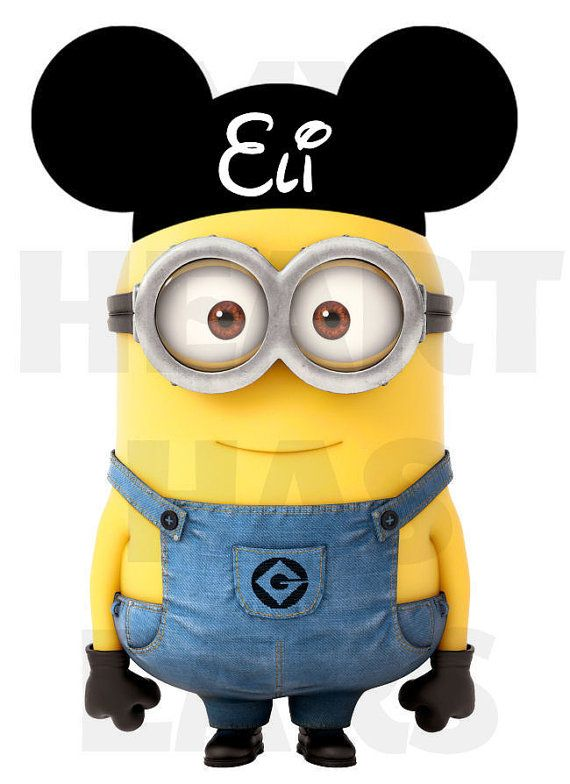 Printable DIY Minion with Mickey Mouse ears by MyHeartHasEars