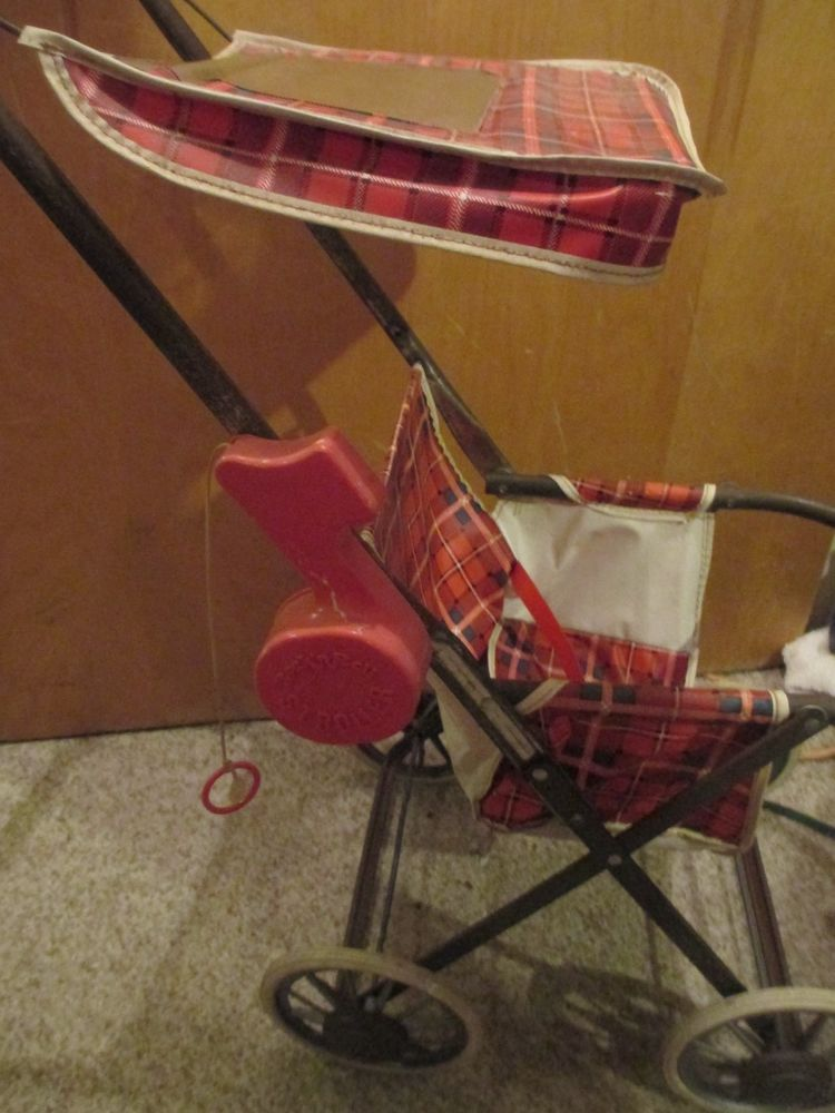 VINTAGE 1970'S COLECO ROCK N ROLL DOLL STROLLER, WORKING