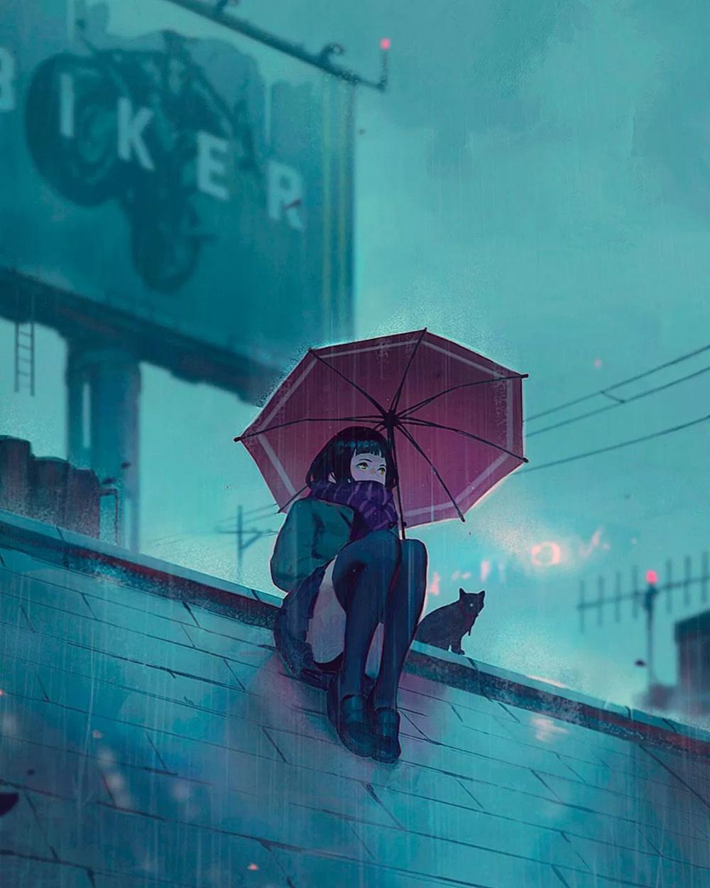 anime rain Google 搜尋