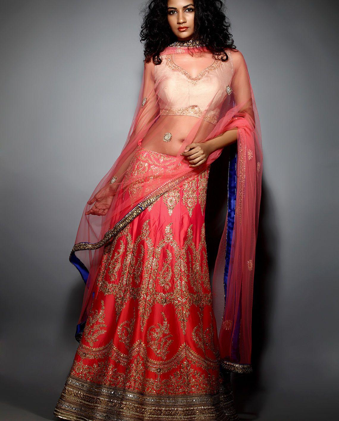 Indian Lesbian Dailymotion Good the coral pitta work lehenga | jiyaveer design studio | lb