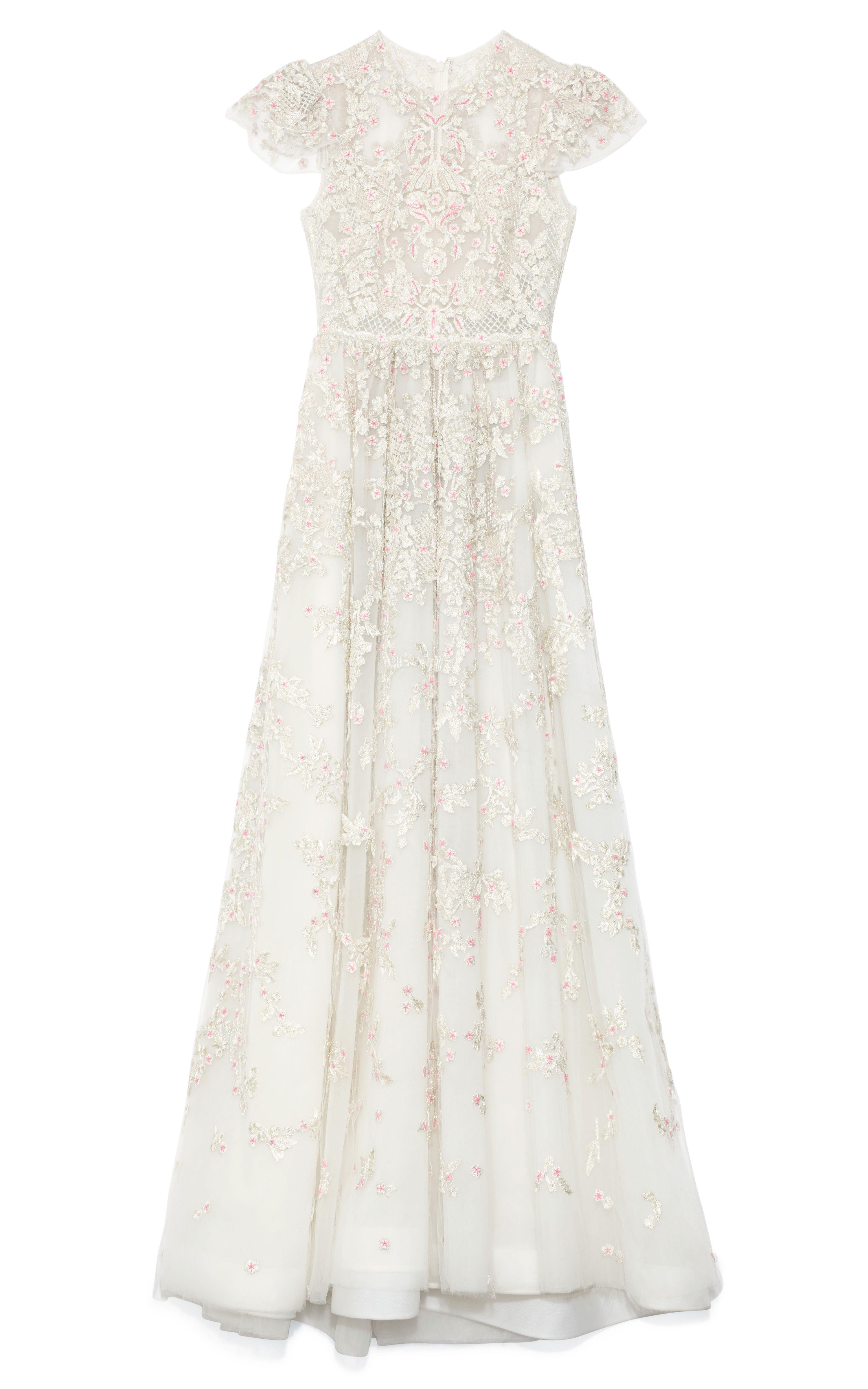 Valentino Avorio Multi Tulle Illusione Gown in White (Avorio Multi ...