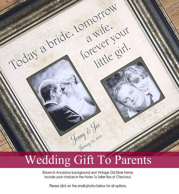Father Of The Bride Personalized Picture Frame with TODAY A BRIDE ...