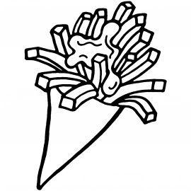 DIY friet maken! | Frietjes, Friet, Knutselen thema eten