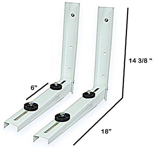 Outdoor Mounting Bracket For Ductless Mini Split Air Conditioner Heat Pump Systems Universal 9000 12000 Btu Con Heat Pump System Ductless Mini Split Ductless