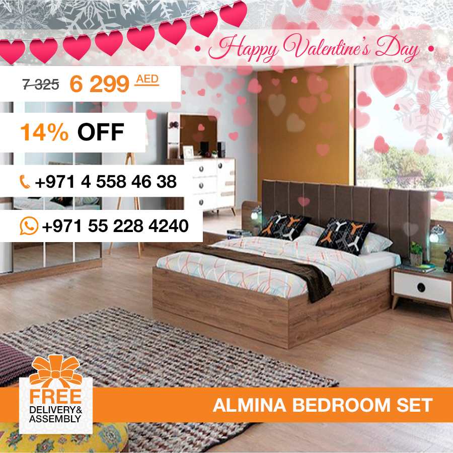 Made in Turkey, the Almina bedroom set presents details that smartly improve the special effect of its kamon walnut finished surface, where light, materials and space blend to offer simple, minimalist shapes with contemporary appeal. It consists of a bed, two nightstands, dresser and wardrobe. This set gives the room a rich, clean look and an open airy feel. More details: http://gtfshop.com/almina-bedroom-set