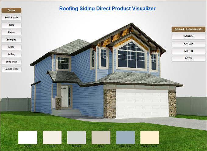 Roofing Siding Direct Exterior Home Product Visualizer for products