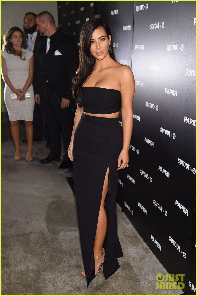 449b66db5ba Kim Kardashian Wears Sexy Skin-Revealing Dress for  Paper  Magazine Party  in Miami
