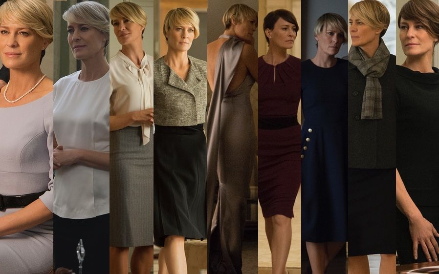 Claire Underwood Style Files On House Of Cards Mcqueen Monochrome