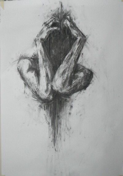Art drawing and sad image