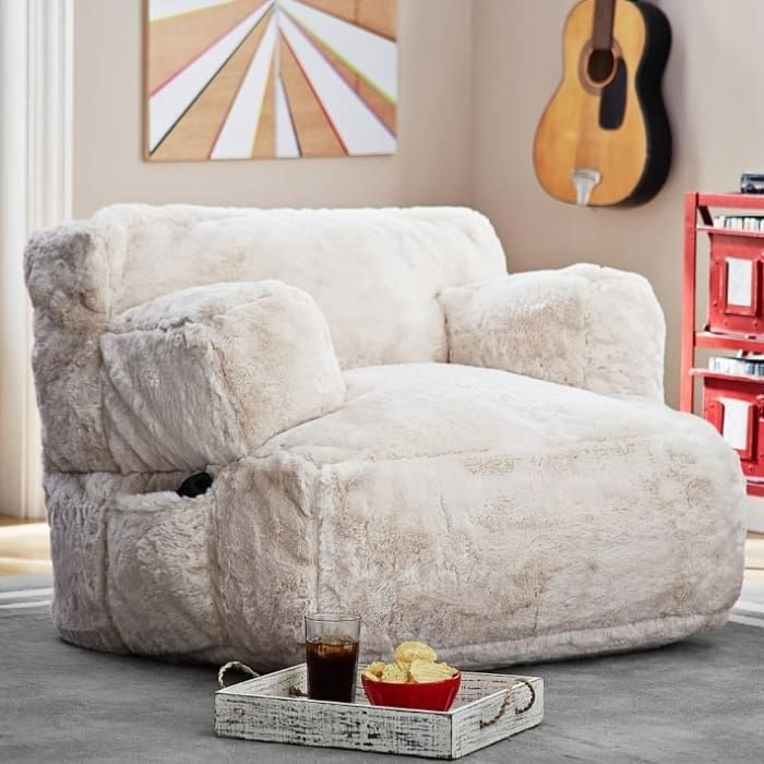 A Plush Lounge Chair With Build In Speakers For Your Snoozing Soundtrack Plush Lounge Chair Big Comfy Chair Lounge Seating