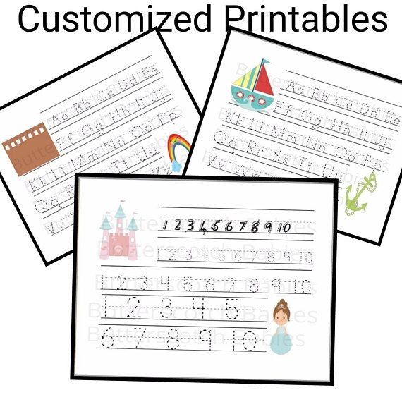Alphabet Worksheets Tracing Kids Numbers Handwriting Etsy Alphabet  Worksheets, Alphabet Worksheets Preschool, Preschool Worksheets