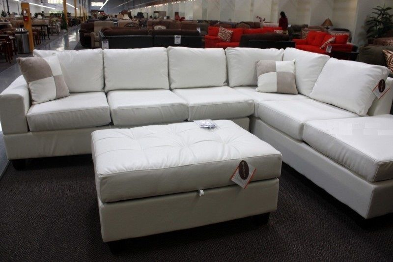 Modern Cream White Faux Leather Sectional Couch Furniture Couch Furniture Faux Leather Sectional Sectional Couch