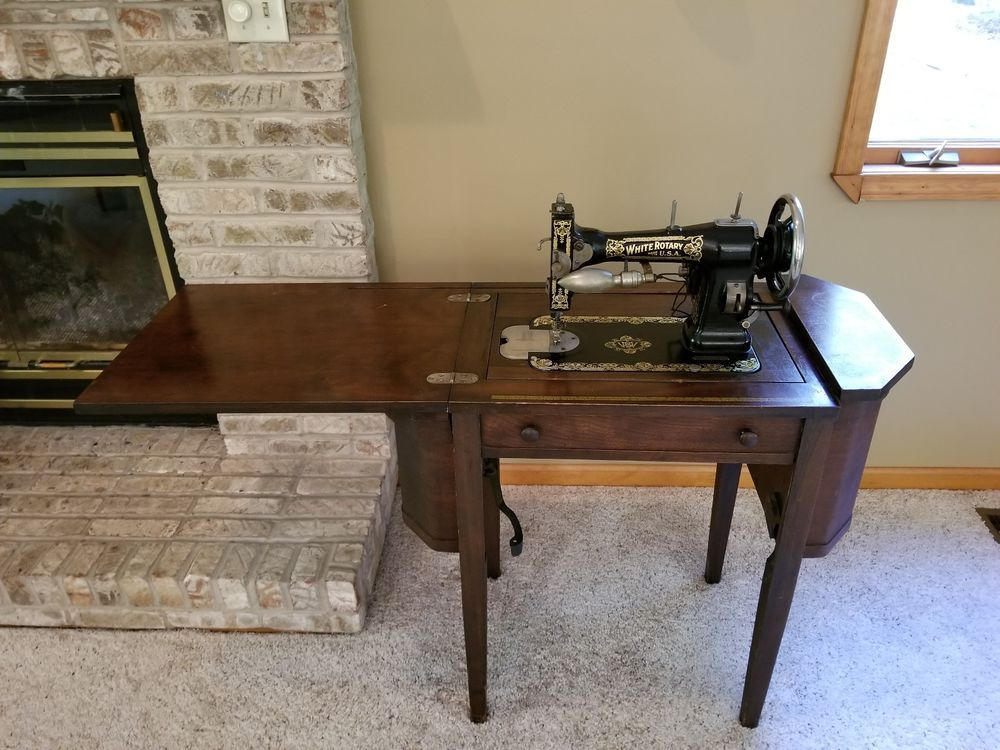 Antique White Rotary Sewing Machine Antiques Antiques Vintage Extraordinary White Rotary Sewing Machine Table