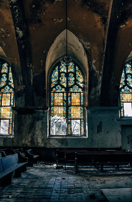 Abandoned Church Interior Saint Louis Mo Canvas Print Canvas Art By Dylan Murphy In 2019