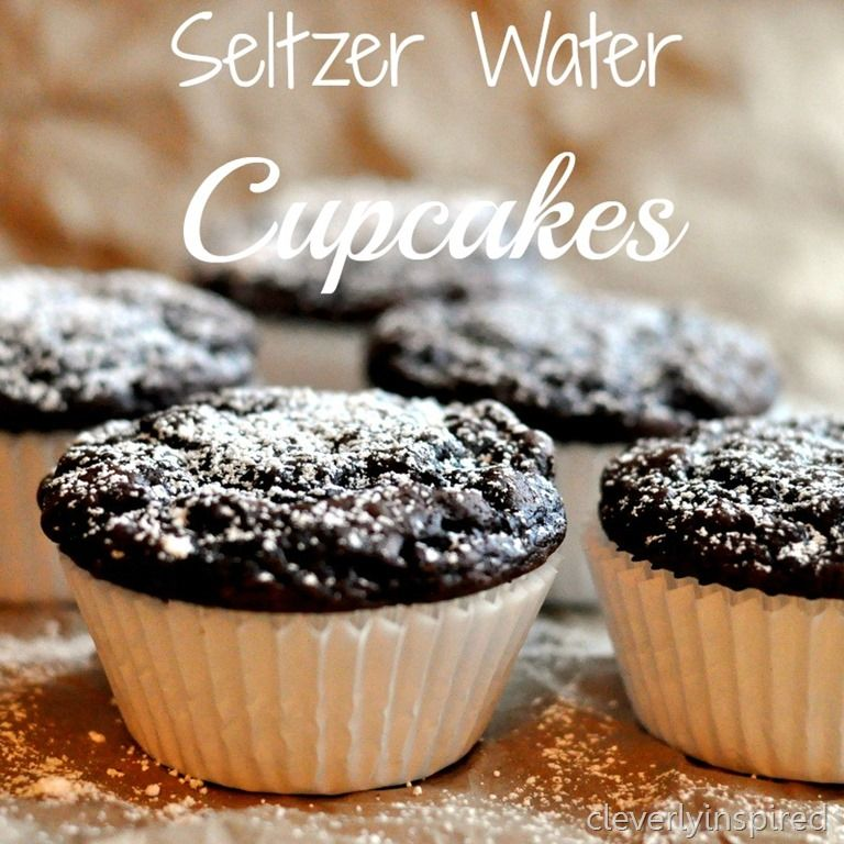 Chocolate seltzer water cupcakes... these look amazing! Click image for recipe.