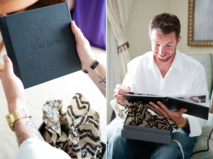 Wedding Day Gifts For Groom: Boudoir Album As Groom's Gift On Wedding Day! His Reaction