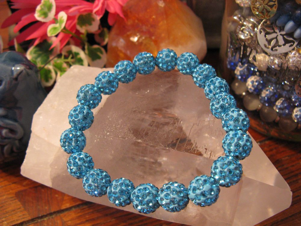 New Sexy Turquoise Shimmer Crystal Ball Shamballa Cuff Bracelet--Rustic Style in Jewelry & Watches, Fashion Jewelry, Bracelets | eBay