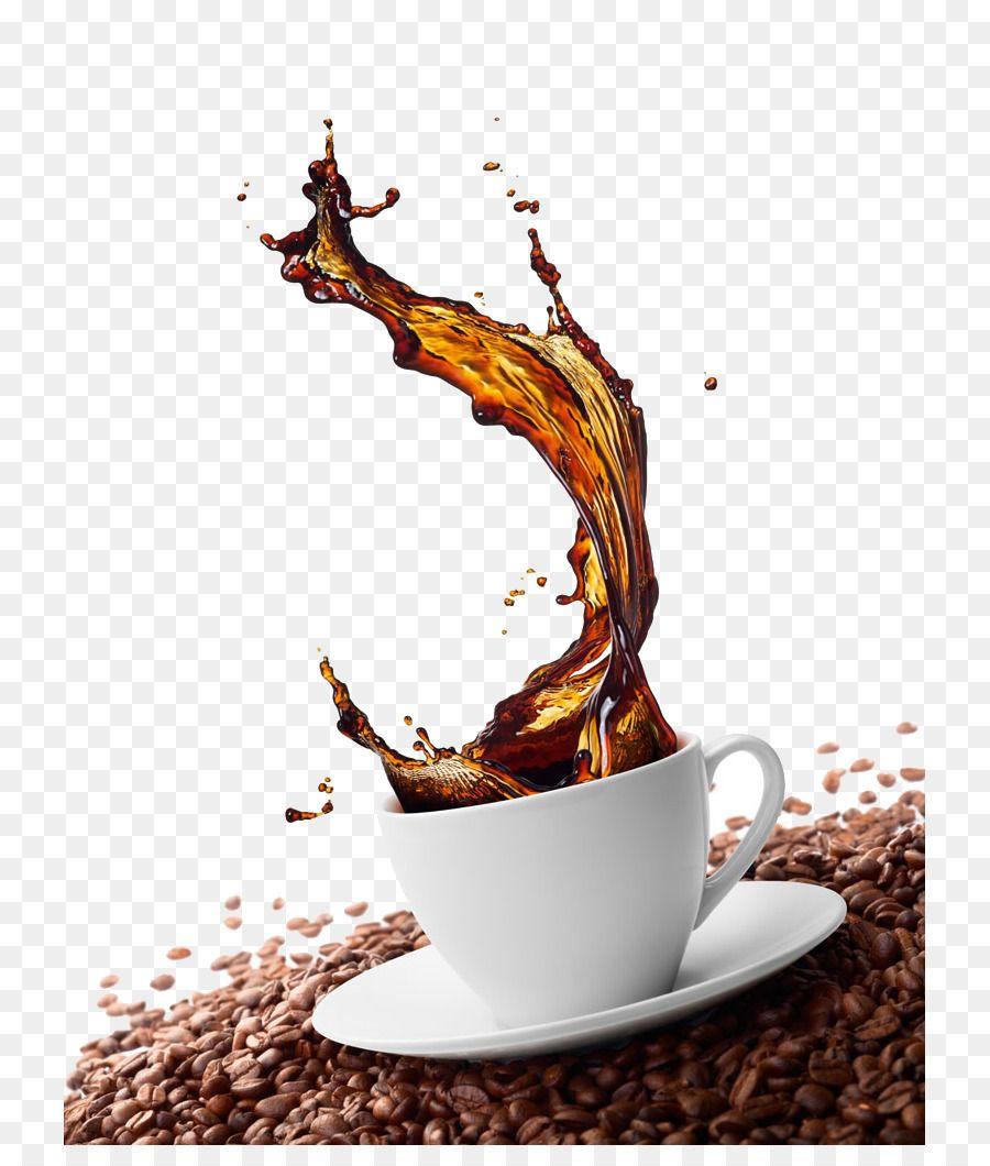 Green Coffee Cappuccino Cafe Coffee Bean Coffee Splash Effect