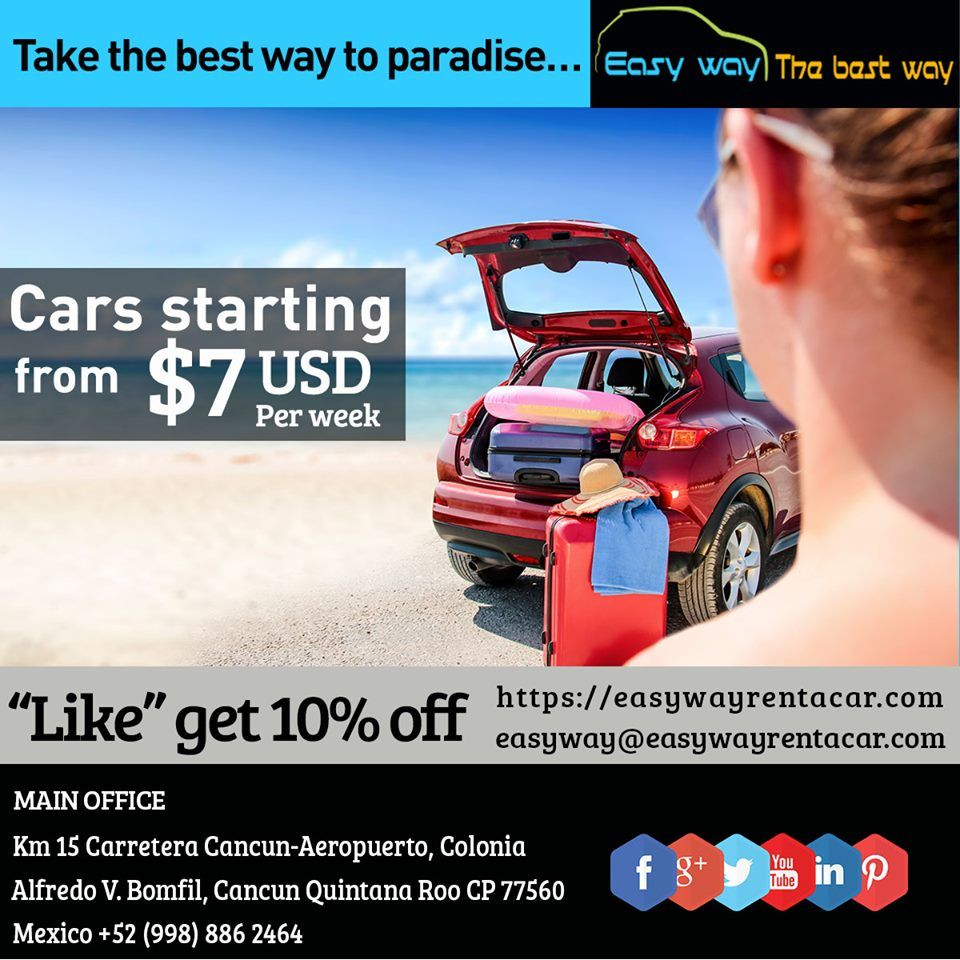 Take The Best Way To Paradise Cars Starting From 7usd Per Week