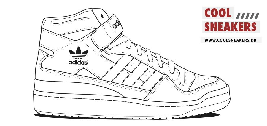 Sneaker Coloring Sheet