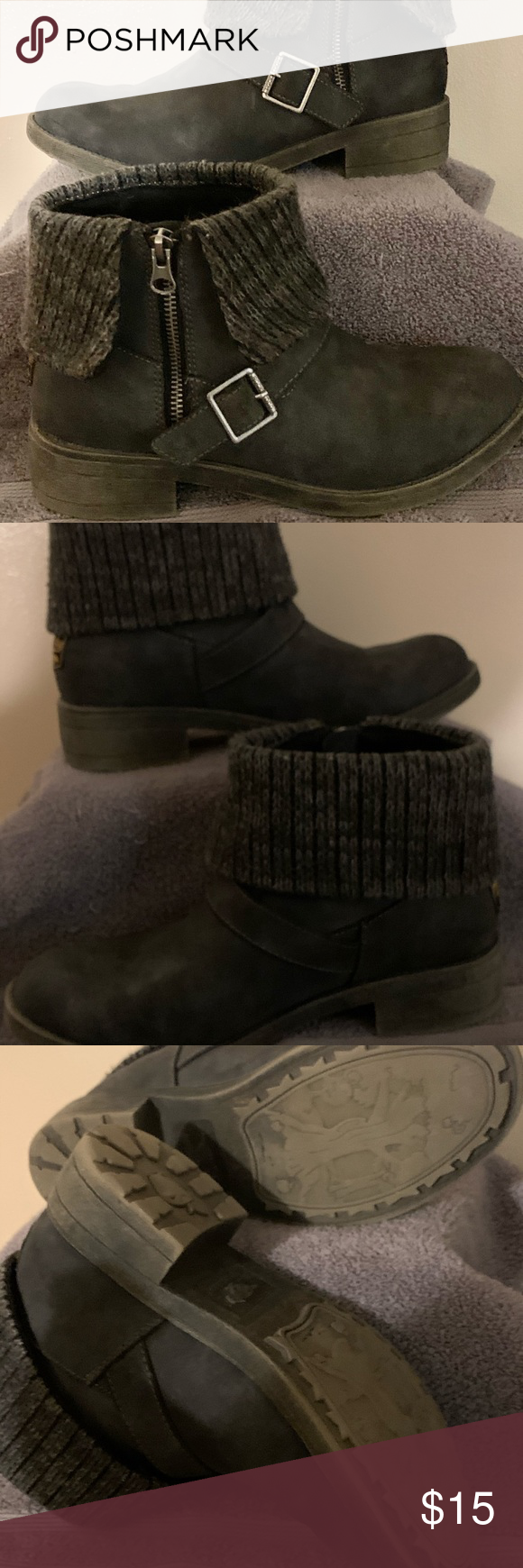 Rocket Dog Gray Ankle Boots Rocket Dog Gray ankle Boots, slight wear, perfect boots to wear with skinny jeans. Rocket Dog Shoes Ankle Boots & Booties #skinnyjeansandankleboots
