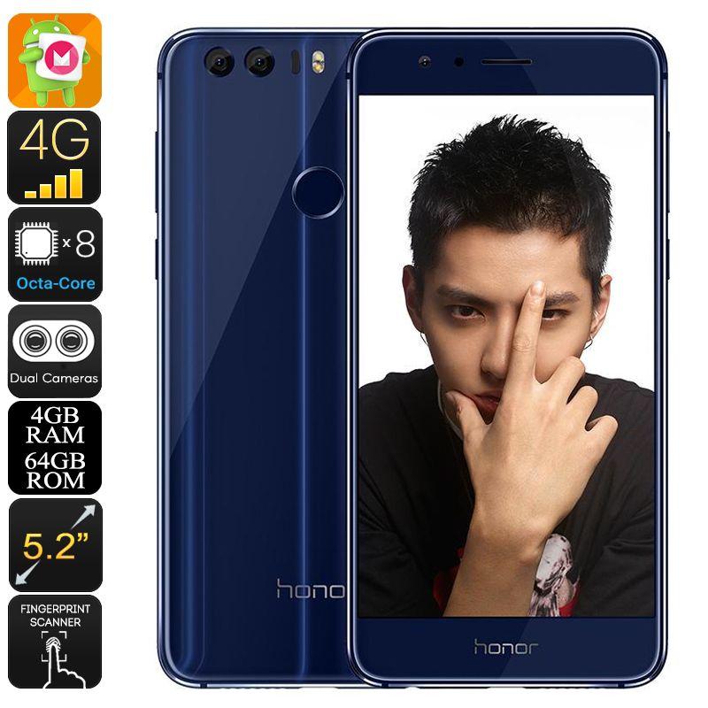 Huawei Honor 8 Android Phone Android 6 0 Dual Imei Octa Core Cpu 4gb Ram 1080p Display 12mp Dual Camera Huawei Hon Telephones Android Produits Android