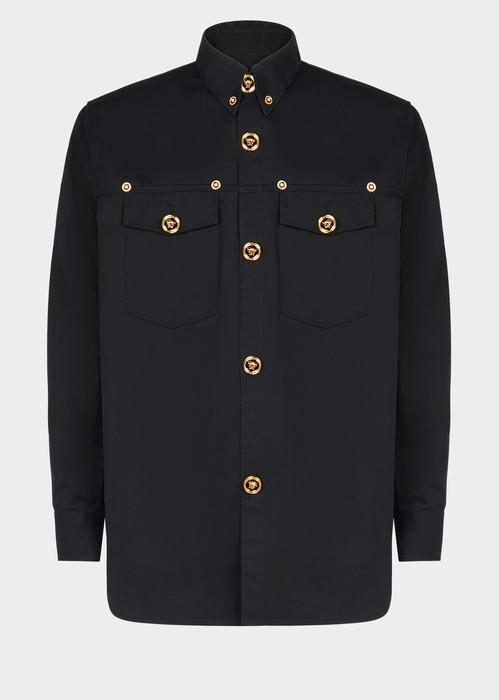 fea1852d VERSACE Medusa Button Gabardine Shirt. #versace #cloth # | Versace ...