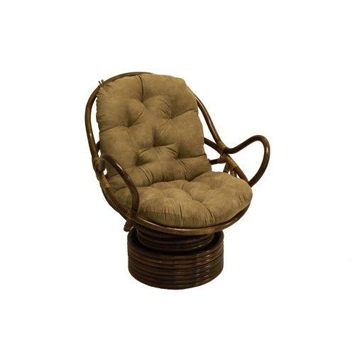 Swivel 29 Quot Papasan Chair Swivel Rocker Chair Papasan