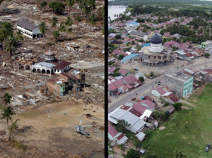 Boxing Day Tsunami Then And Now In Pictures Pictures Tsunami Aceh