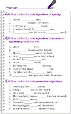 Grade 4 Grammar Lesson 10 Kinds of adjectives (4) | Teaching English ...