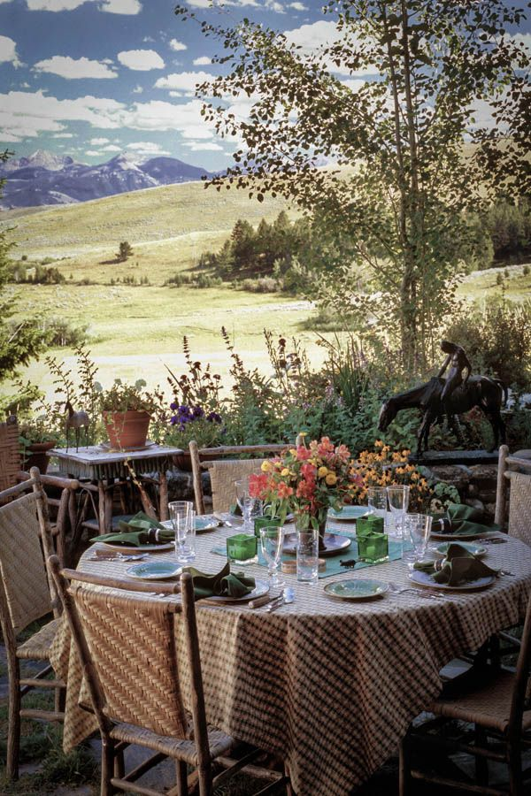 Charming Double D Ranch By Miller Architecture. Love The View! And Beautiful Place  Settings.