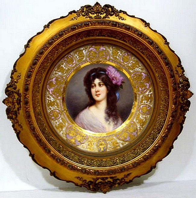 Wagner, Royal Vienna Porcelain (Austria) — Cabinet Plate 'Amorosa'  (650x657)