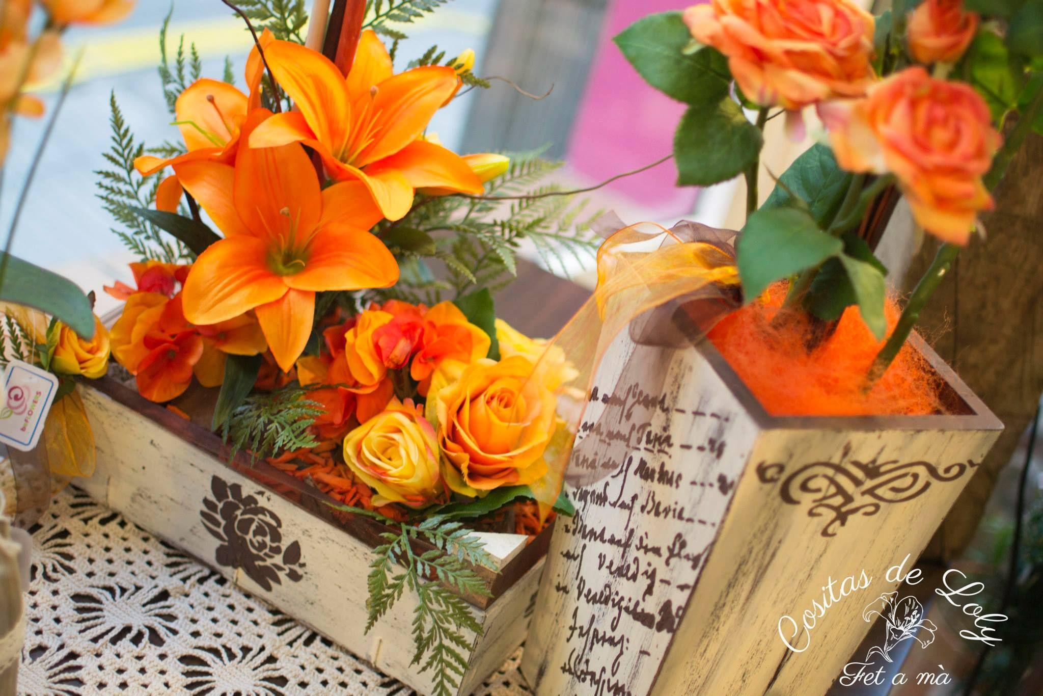 Jarinera y jarrón vintage / handmade / DIY sweet flowers