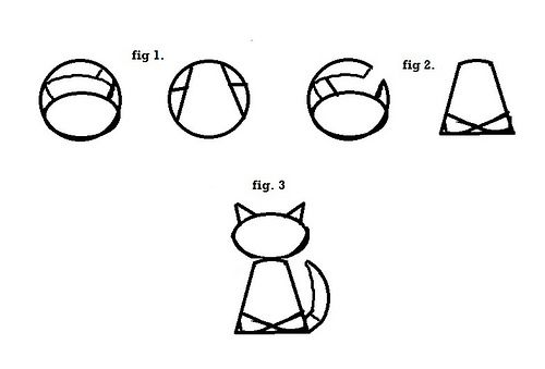 Cat Cake Template To Create The Kitty Shape You Ll Need Cut Your Two Layers