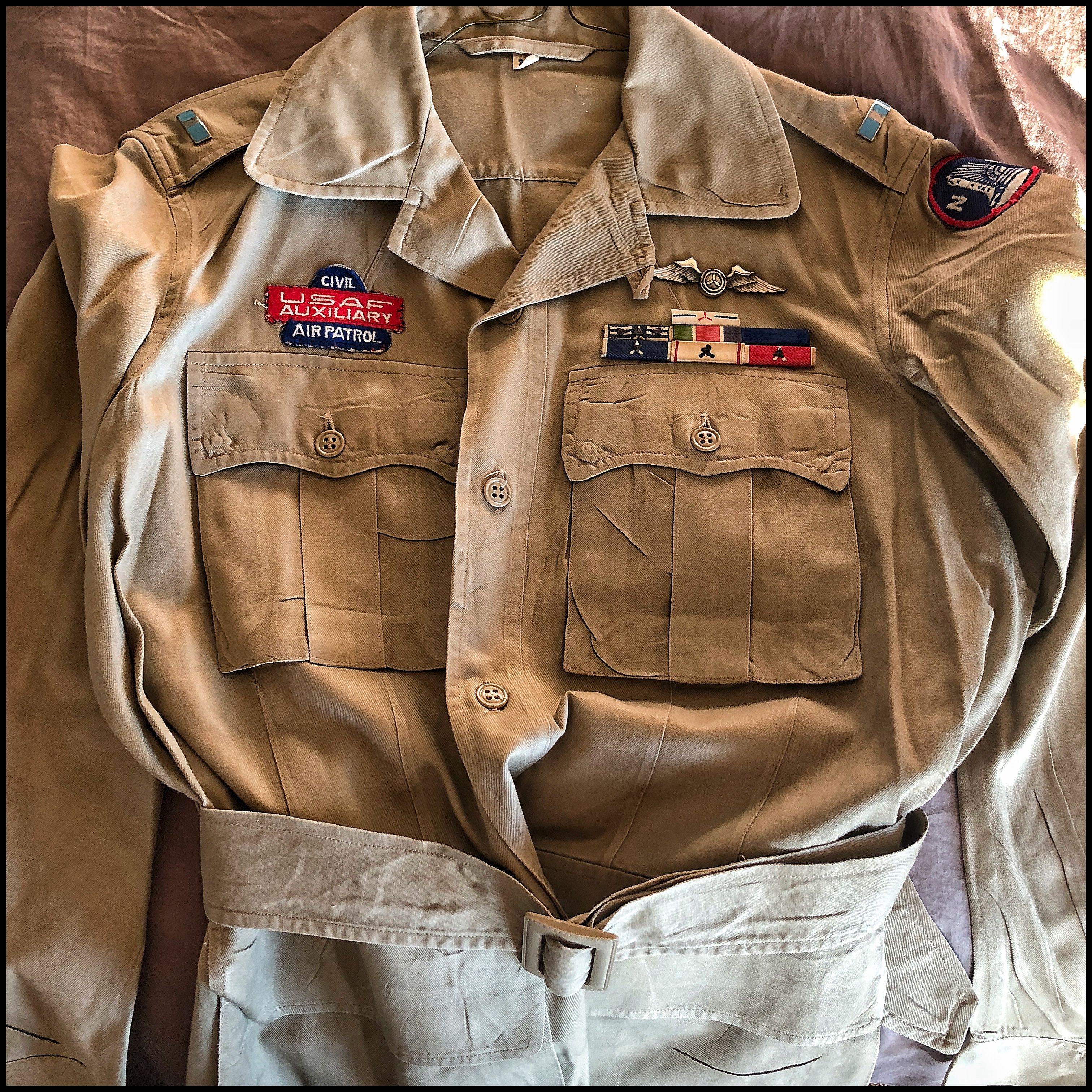 1950's era men's CAP Jungle Jim khaki uniform. Civil air