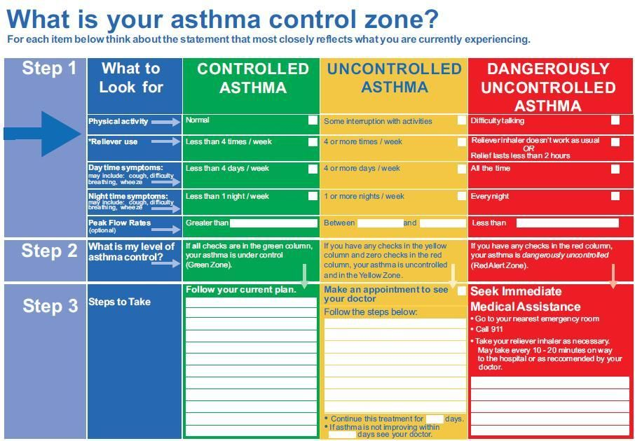 Asthma Action Plan Check Out This Electronics Site And Their