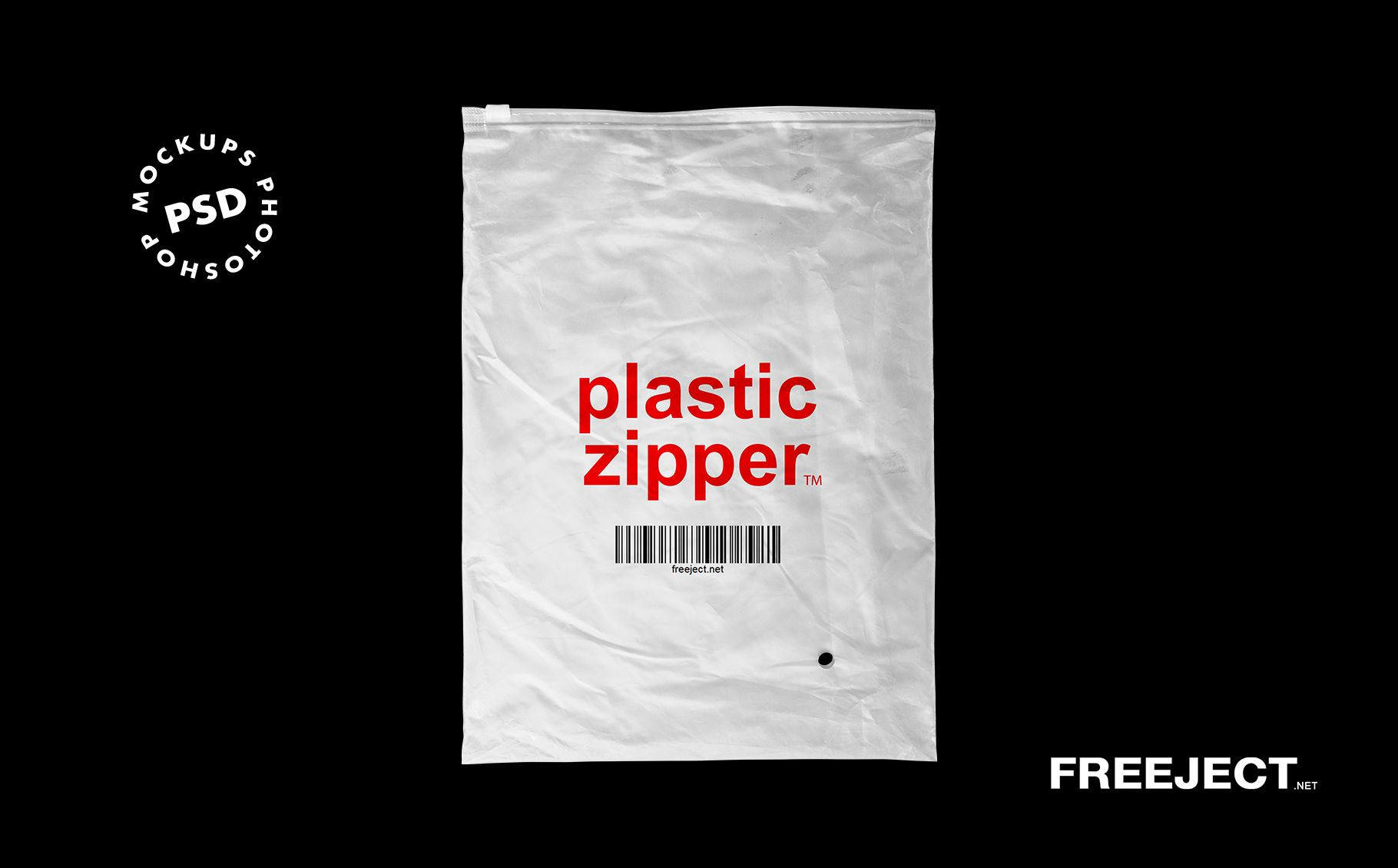 Download 3 Plastic Zipper Bag Mockups Free Psd File
