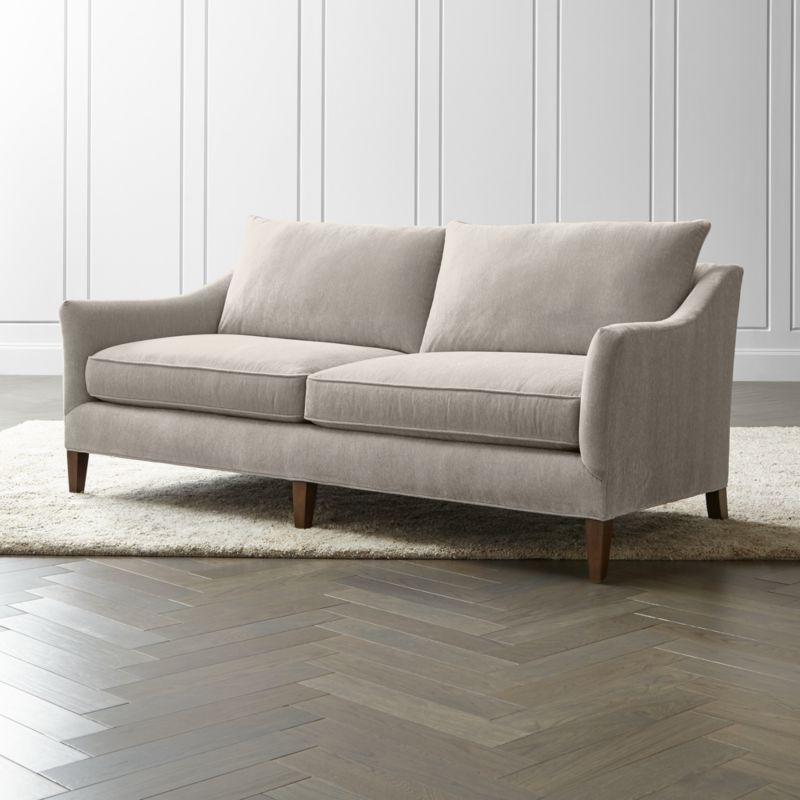 keely apartment sofa  reviews  crate and barrel