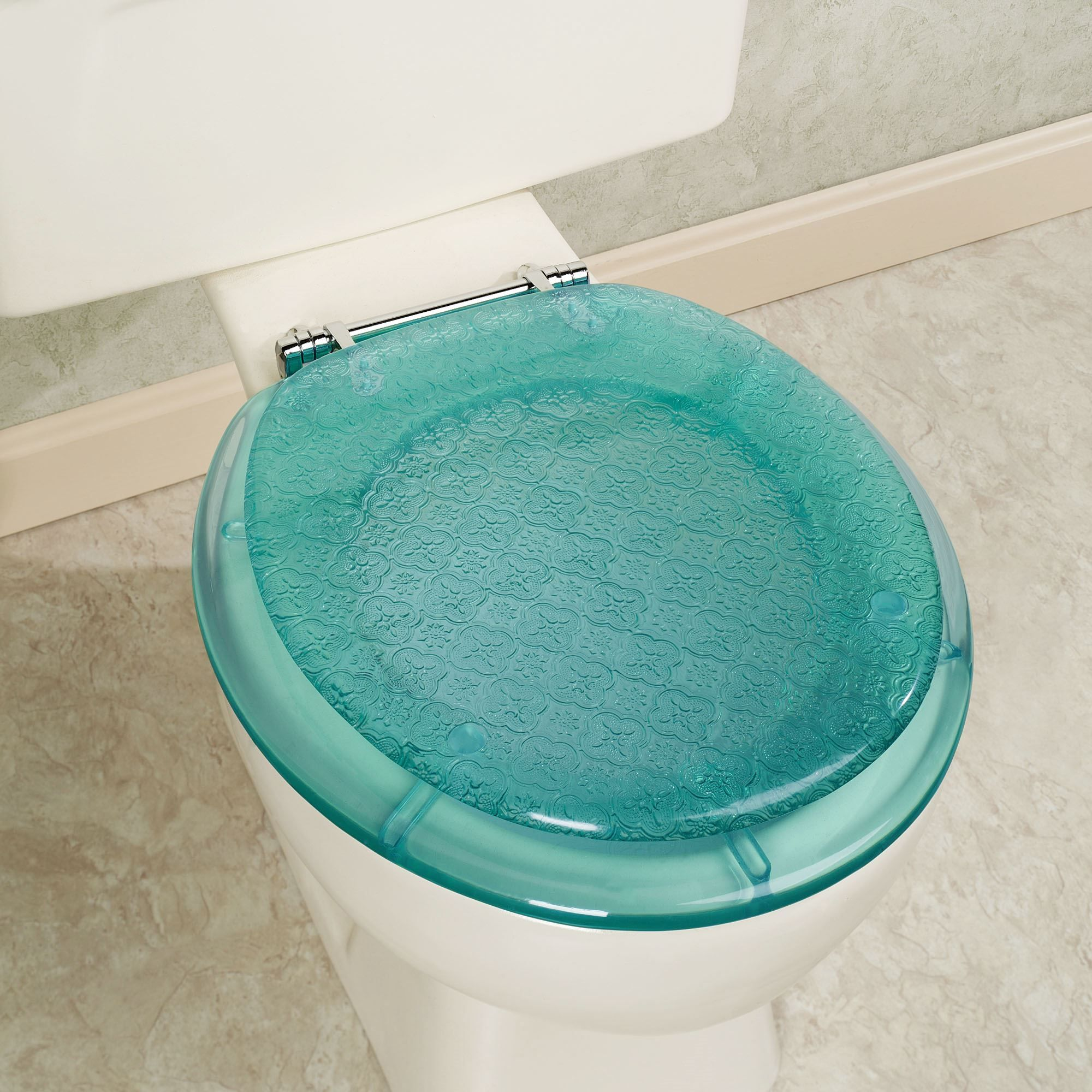 Vesta Teal Decorative Toilet Seat Toilet Toilet Seat