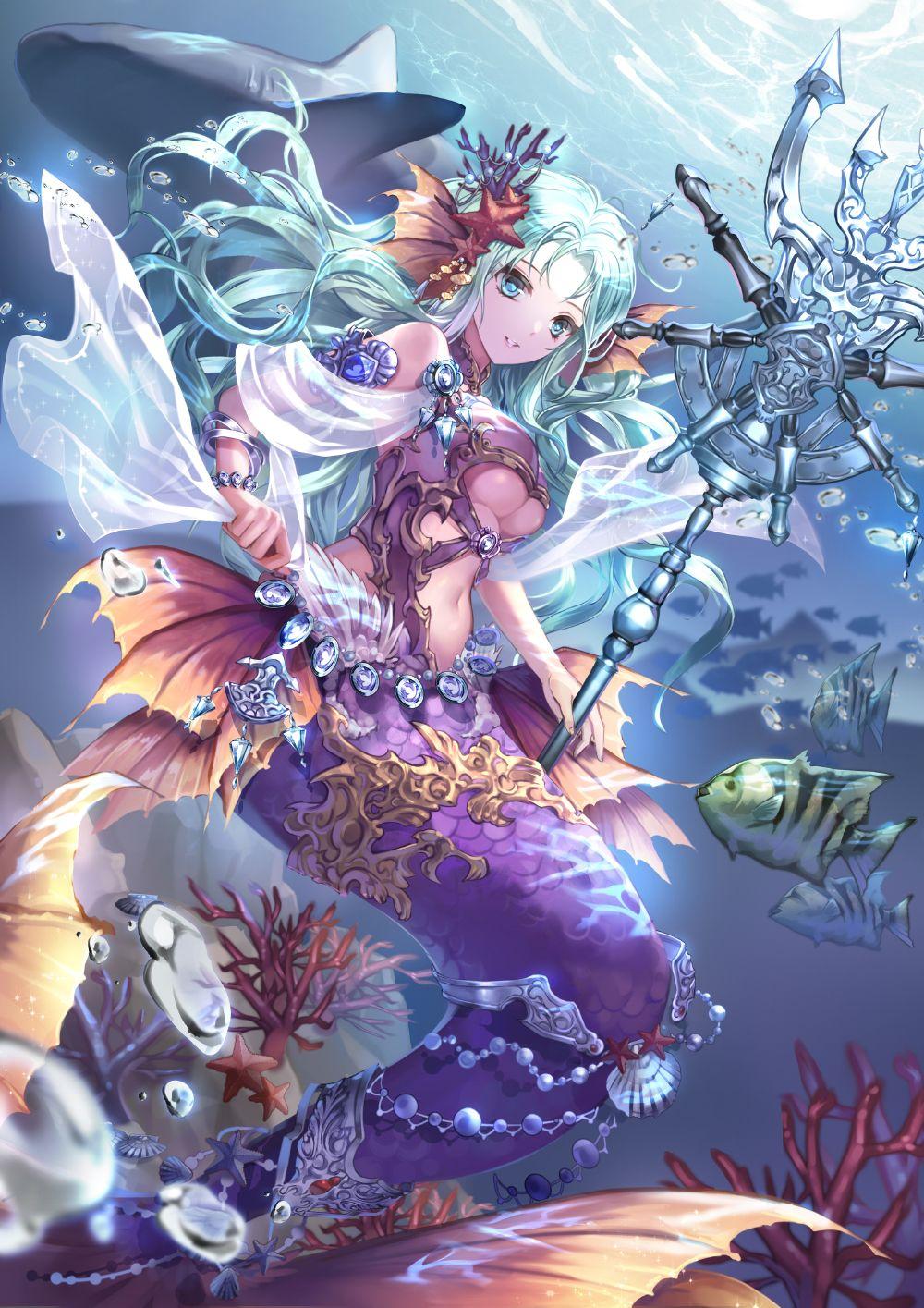Shenteita Kai Fine Art Anime Mermaid Anime Art Fantasy Manga Mermaid