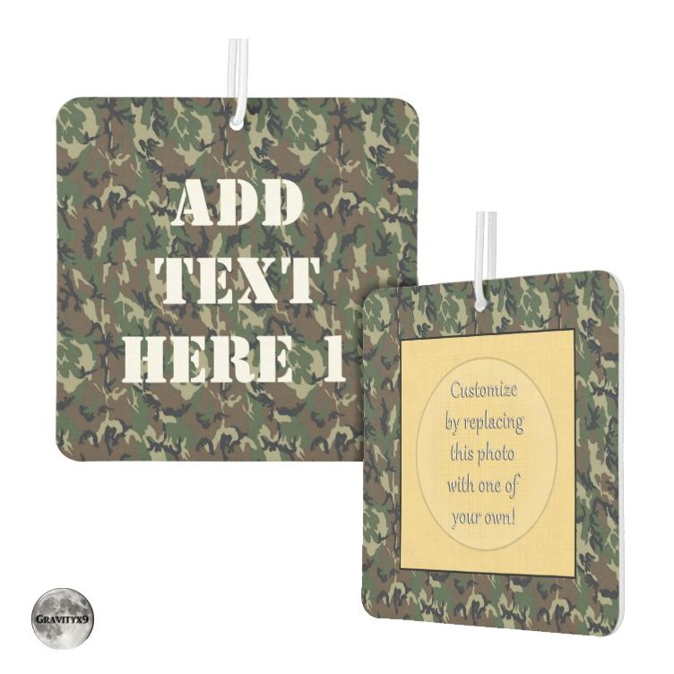 * Military Green Camouflage Pattern Car Air Freshener by #Camouflage4you #Gravityx9 #Zazzle * Personalize this military camouflage pattern air freshener with a text and photo. Great gift as a stocking stuffer for military family and friends.  * car air freshener * car accessories * car air freshener hanging * auto air freshener * automobile supplies * fresh car smell * odor eliminator * auto supplies * #carfreshener #airfreshener #odoreliminator #autosupplies #carsupplies  #stockingstuffers