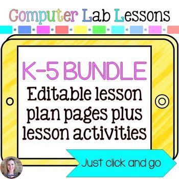 Technology Lesson Plans and Activities Grades K-5 Bundle ...