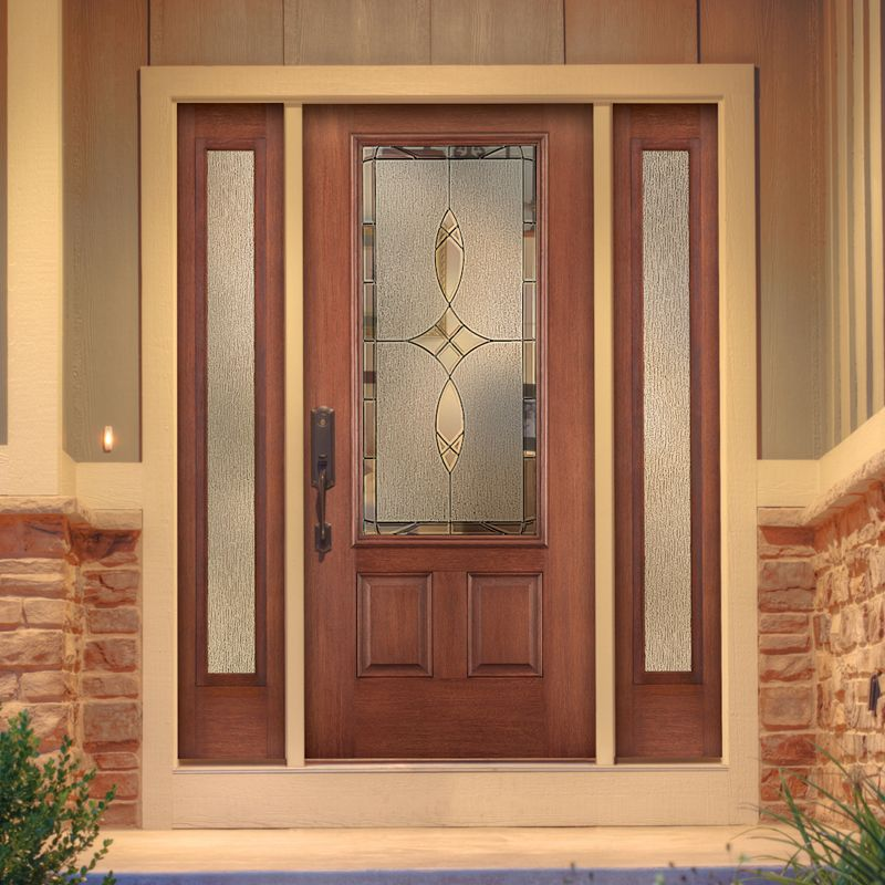 Thermatru Fiber Classic Entry Door With Sidelights Fcm765 E Excellent Entry Doors Pinterest